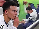 Dele Alli throws his boots on floor in anger after being hauled off by Jose Mourinho vs RB Leipzig