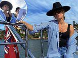 Pip Edwards spends some alone time with beau Michael Clarke onboard a luxury yacht