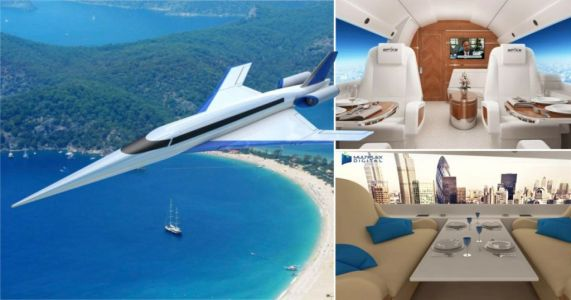 Take a look inside this super jet that could take you from London to New York in 90 minutes