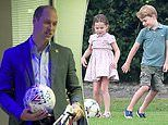 Prince William reveals Prince George, Princess Charlotte and Prince Louis will love football gift