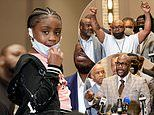 George Floyd's six-year-old daughter Gianna attends press conference with family