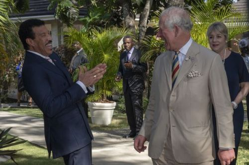 Prince Charles makes cheeky pun as he meets Lionel Richie - and singer can't believe it