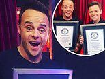 Ant and Dec awarded Guinness World Record for achieving the most Best Presenter NTA wins in history