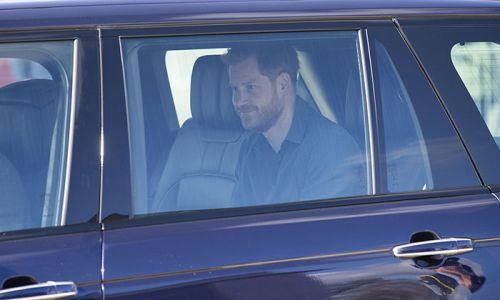 Prince Harry pictured arriving in the UK ahead of Prince Philip's funeral