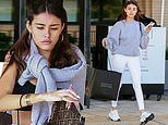 Madison Beer goes casual in sweats while shopping. after she was trolled by Selena Gomez fans
