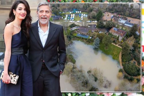 George Clooney's £12m Berkshire mansion surrounded by floods as Storm Dennis engulfs estate