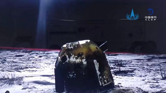 Chinese sample return capsule lands on Earth after round-trip flight to moon