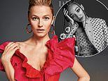 Lily Travers stuns in a plunging red dress as she leads the rising British stars for striking shoot