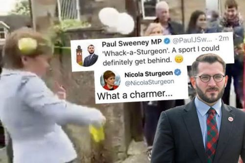 Labour MP slammed over 'Whack-a-Sturgeon' tweet after First Minister hit by tennis ball