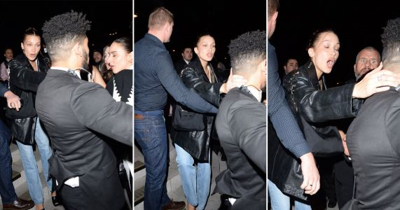 Bella Hadid clashes with security as she hits up Love Magazine's swanky London Fashion Week party