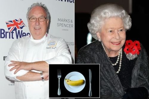 The Queen uses knife and fork to eat bananas for fear of gobbling 'like a monkey'