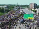 Semi-truck barrels into George Floyd protesters marching on Minneapolis interstate