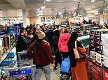 Massive crowd of Aldi shoppers forget about social distancing as they fight for cheap Dutch ovens