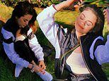 Selena Gomez shares photos from her yard on Instagram while promoting colorful Puma 'unity' sneakers