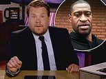 James Corden is close to tears as he delivers a powerful speech about George Floyd's death