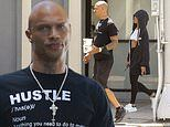 Jeremy Meeks takes a break from 'hustle' for lunch with friends in LA. as he promotes fashion line