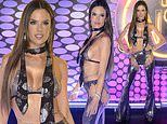Alessandra Ambrosio stuns in a sparkling bra and matching panties as she celebrates Carnival