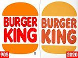 Burger King rebrands for first time in 20 years but fans say 'new' logo is a rip-off of 90s image