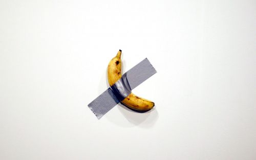 Banana duct-taped to a wall sells for $120,000 at Art Basel
