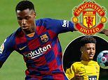 Manchester United 'make fresh enquiry for Barcelona teen Ansu Fati as alternative to Jadon Sancho'