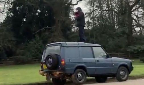 Royal security breach: Man mounts car as he stages protest at Meghan & Harry crisis summit
