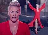 Pink dons fiery red gown for acrobatic dance number with shadows in new Walk Me Home music video