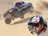 F1 legend Fernando Alonso suffers horror crash at Dakar Rally as he flips his car TWICE on sand dune