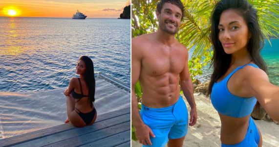 Nicole Scherzinger is a holiday mood as she lives it up in St Lucia with Thom Evans