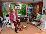 My haven, Michael Morpurgo: The War Horse author, 76, in the tea house in Devon