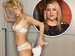 Kate Hudson showcases ripped abs in white bra and lacy panties set for Breast Cancer Awareness month