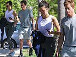 Nina Dobrev and Shaun White put their focus on fitness during a morning date at the gym in LA
