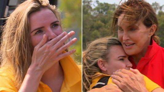 I'm A Celebrity's Nadine Coyle in tears as she's comforted by Caitlyn Jenner over skydiving challenge