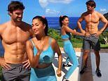Nicole Scherzinger does a playful dance next to her boyfriend Thom Evans in hilarious video