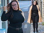 Chanelle Hayes displays her newly svelte frame as she picks up a birthday cake