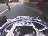 F1 star Sergio Perez reveals he almost hit two safety officials during Monaco Grand Prix