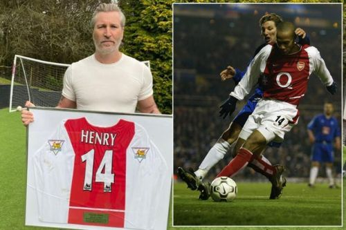 Robbie Savage auctioning Thierry Henry's milestone Arsenal shirt to help NHS