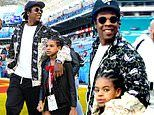 Jay-Z takes daughter Blue Ivy, 8, to the Super Bowl after revealing he TURNED DOWN a half-time spot
