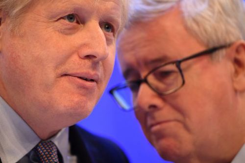 CBI chief's helpful whisper in Boris Johnson's ear at general election speech