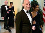 Trump aide Stephen Miller and girlfriend Katie Waldman arrive arm-in-arm at White House State Dinner