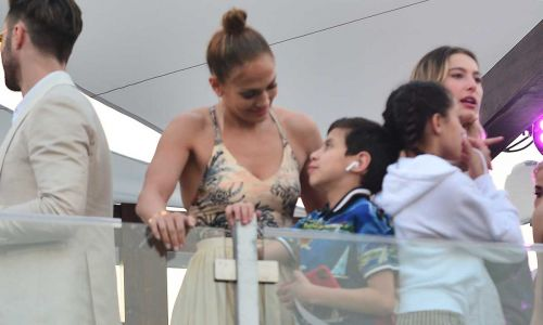 Jennifer Lopez's son Max is so supportive of famous mum in unseen video during Super Bowl rehearsals