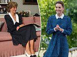 Kate Middleton pays tribute to  Princess Diana in deep blue £525 Beulah London gown