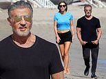 Sylvester Stallone goes monochrome to join his wife Jennifer Flavin, daughter Scarlet in Malibu