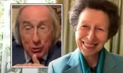 Princess Anne and racing legend Jackie Stewart in stitches as pair reminisce in new video