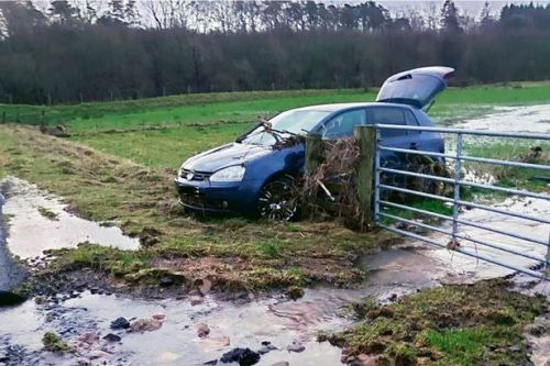 Scots couple rescued from car swept away by Storm Dennis flood waters