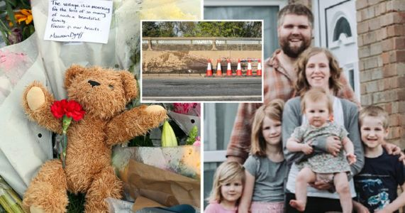 Dad's heartbreaking tribute to wife and three children killed in crash