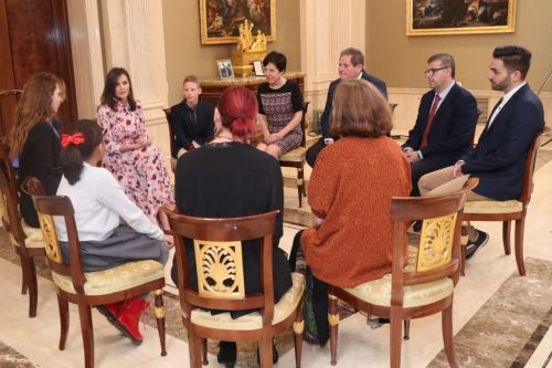 Queen Letizia holds audiences with patient organisations