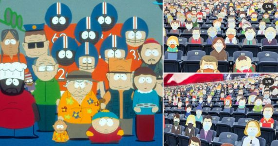 South Park fills NFL stadium with cardboard character cut-outs to sit alongside socially distanced live crowd