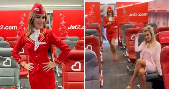Amanda Holden getting dressed up as an air hostess is making us miss holidays even more