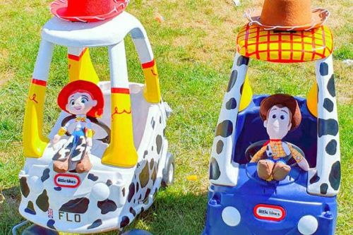 Dad missing twins in lockdown gives Little Tikes cars £45 Toy Story makeover