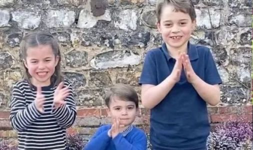 Prince George, Princess Charlotte and Louis resemble Kate and William in cute NHS video